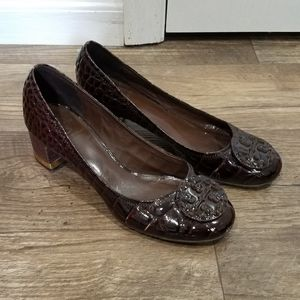 Tory Burch Brown Patent Heels